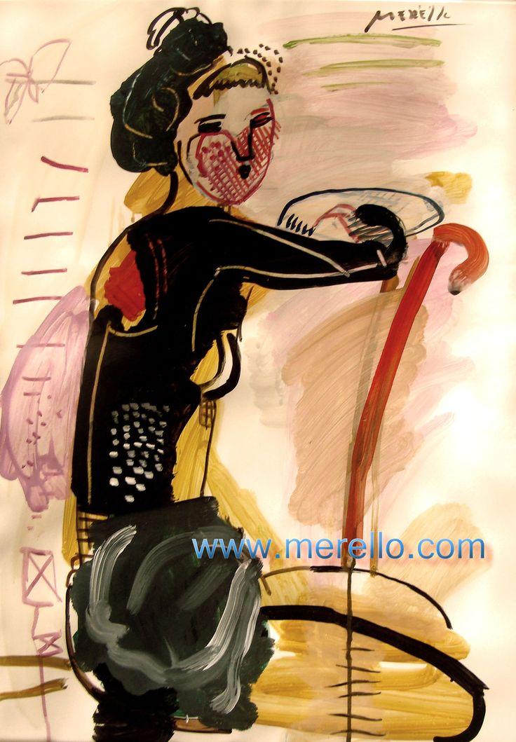 """P E R FU M E. Jose Manuel Merello.- """"Mujer pensando."""" CONTEMPORARY ART and ARTISTS. MODERN ART. http://www.merello.com"""
