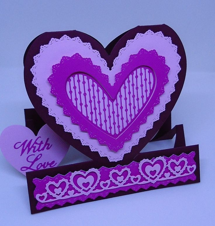 Heart shaped card.