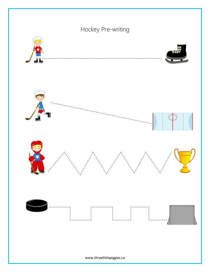 Super cute and fun hockey themed activities!