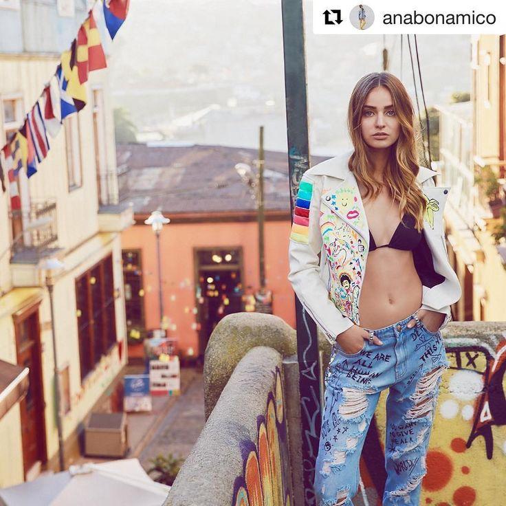 Good morning NY  #hereagain  #newyork #thesocietymodels  @anabonamico with @repostapp ・・・  ✨ Campera Intervenida x mi  para #ELLEmagazine w @trinidaddelanoi  @tomghiorzo &  @tanniasantander #makeup & #hairstyle  #noviembre #AnaBonamico #Artist #LifeInColors