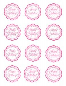 Free birthday cup cake toppers