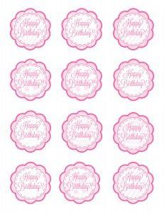 Pink Cupcake Topper Printable