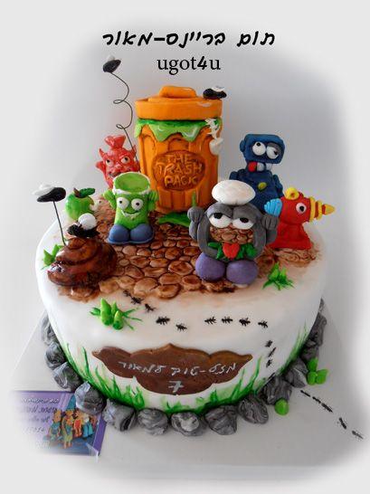 the trash pack, זבלונים,להזמנה 03-9519614 עוגות מעוצבות , עוגת זבלונים,עוגות יום הולדת, עוגות מבצק סוכר, cakes,design cake, העוגות של תום, יום הולדת  ,תום בריינס-מאור ugot4u, עוגות פור יו  03-9519614,