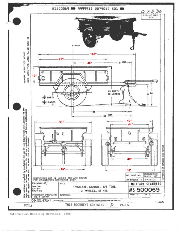 "M416 ""Jeep"" Trailer Information Website"