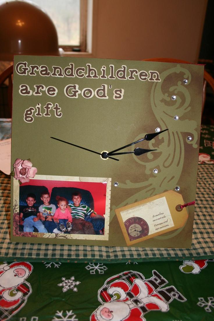 Grandchildren clock