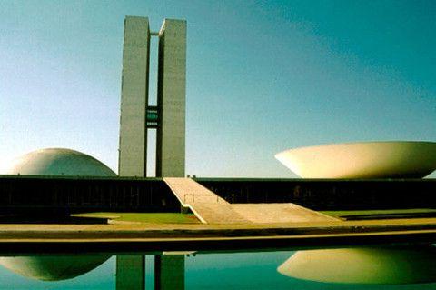 Дворец Национального конгресса в Бразилиа 1960г