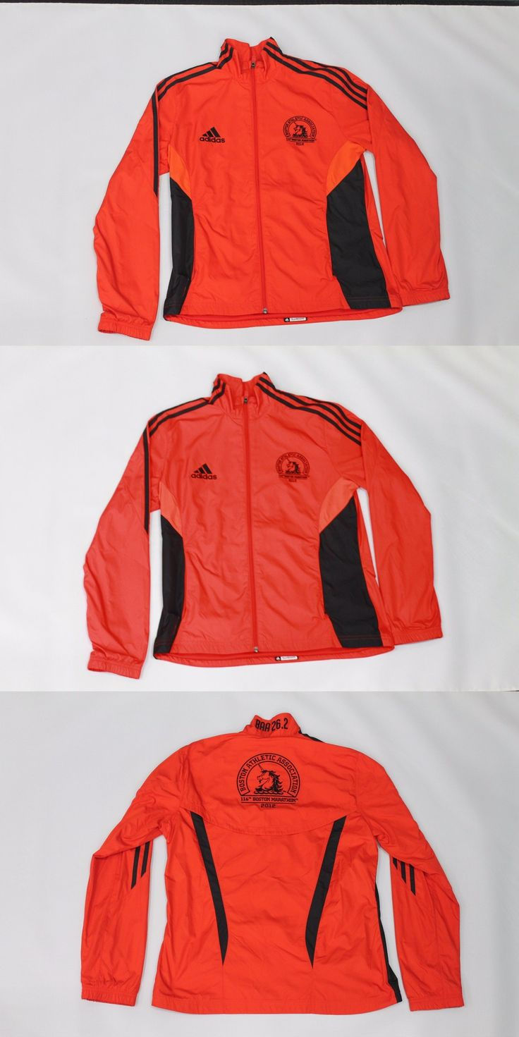 Jackets and Vests 59285: Adidas Official Running Jacket - Boston Marathon - Womens Medium BUY IT NOW ONLY: $100.0