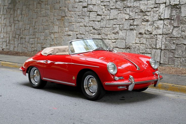 1960 PORSCHE 356 ROADSTER. Possibly the best looking car ever made, at least in my book.