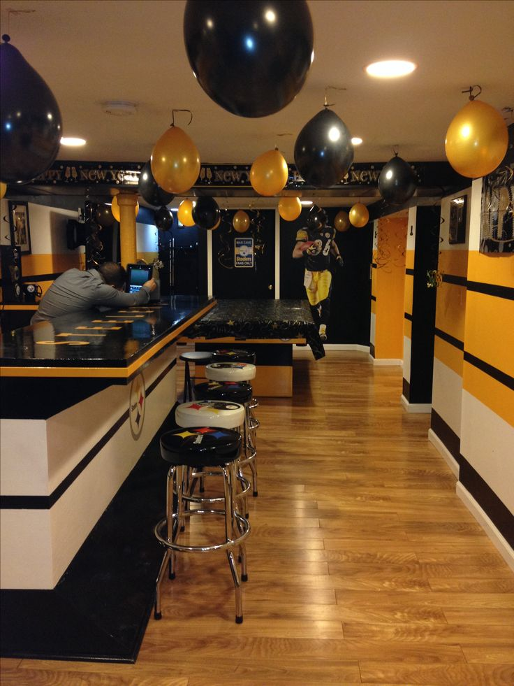 Steelers Man Cave New Years Party Steelers
