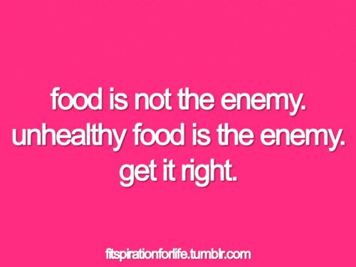 10 to the 4.  And 'technically', I am the enemy when i pursue gluttony etc.  So, if we're talking about 'getting it right', let's really get it right.  Let's not blame the food (healthy or unhealthy).