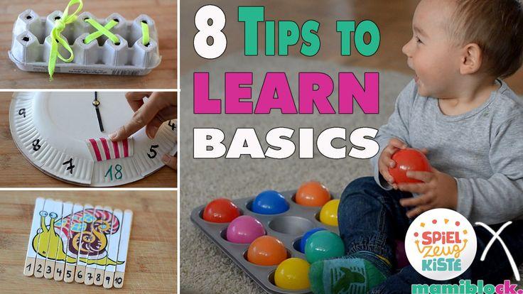 8 Lerntipps für Kleinkinder | MOM HACKS | Learning Basics | mamiblock x ... Materiales sencillos para peques
