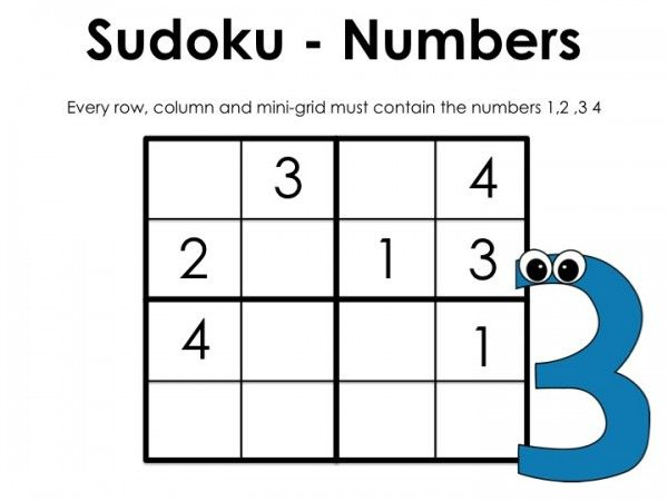 It's just a photo of Zany Sudoku for Kids Printable