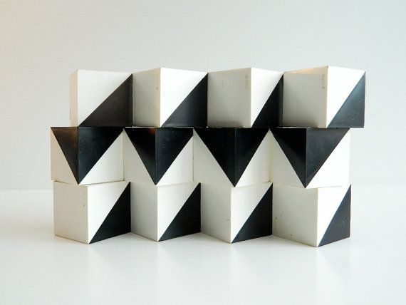 Pattern Pending Plastic design cubes 70s modern geometric architectural toy