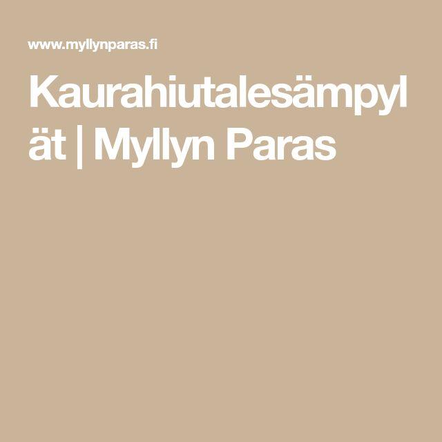 Kaurahiutalesämpylät | Myllyn Paras