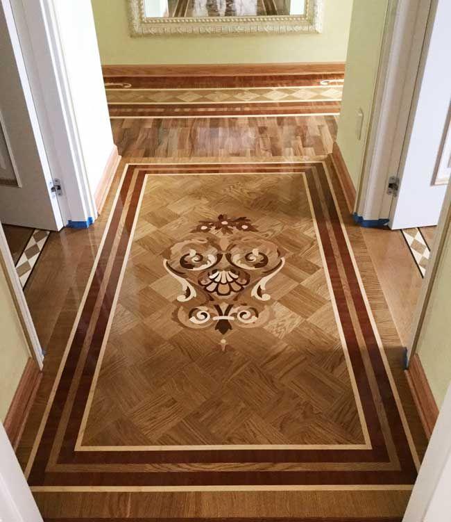 Picture Of Hallway Wood Inlay Design Id518 Example Of Custom