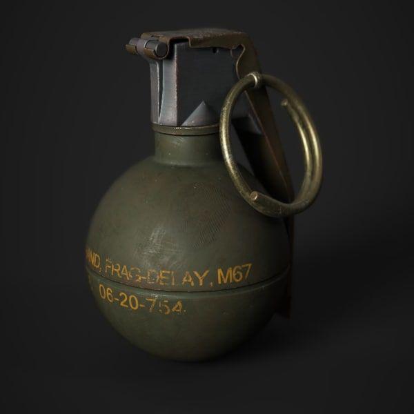 3D Model M67 Grenade - 3D Model