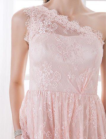 na altura do joelho vestido de dama de honra atar uma linha de um vestido de ombro (710809) - BRL R$ 239,37