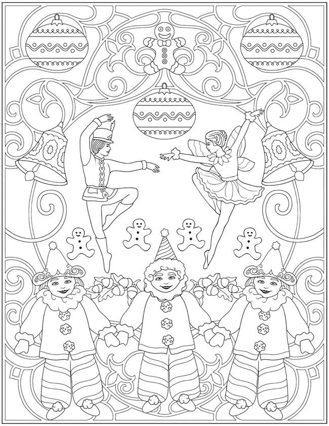 Welcome To Dover Publications Ch The Nutcracker Designs Christmas Coloring Pages Coloring Bookmarks Coloring Books