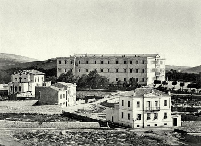 TRAVEL'IN GREECE | The building that is housing the Parliament, 1880, #Athens, #Greece, #travelingreece