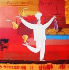 Frans Groenewald  Poires au vin Rouge  Alice Art Gallery