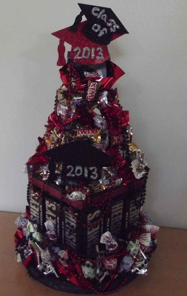 Graduation centerpiece candy pinterest