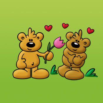 Die Schnuffelbären - Kostenlose Grußkarten für Valentinstag
