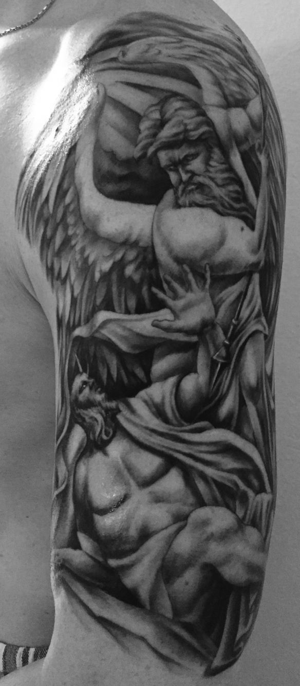 Albrecht Dürer - Höllensturz I was looking for an Art which relates to my heritage and here we go.  I got this in December'14 at Gold Rush tattoo/ Artist Jole Bones. One of the most dedicated tattoo artists I have ever seen.