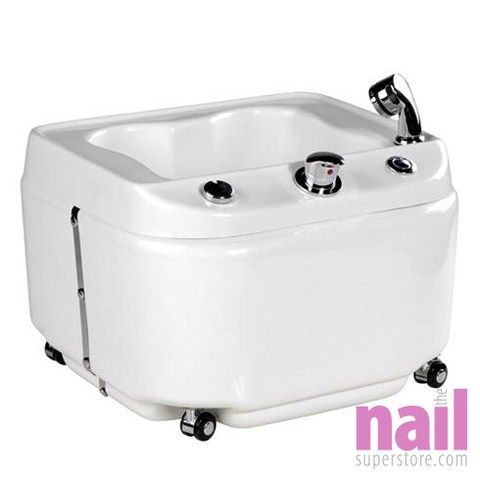 EuroStyle Portable Hydra Jets Pipeless Pedicure Spa with Built In Drain Pump | Ready To Use - No Plumbing Required