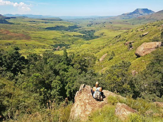 Hiking in the Royal Natal National Park, Drakensberg, South Africa