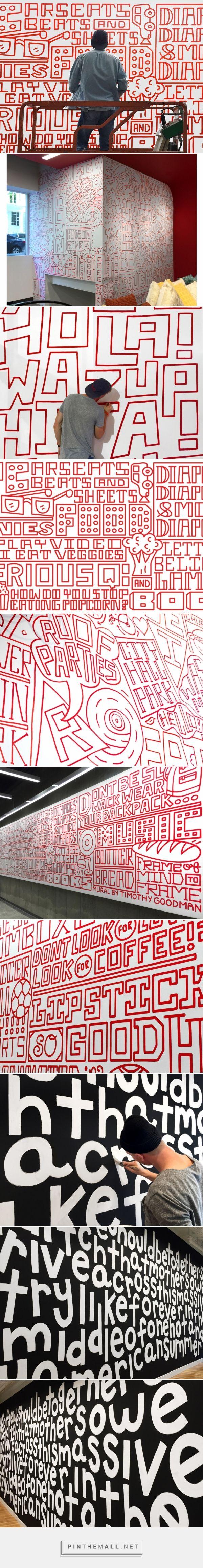 Timothy Goodman's new playful hand-painted typographic murals | Creative Boom - created via https://pinthemall.net