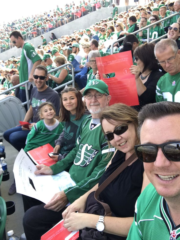 "Curtis on Twitter: ""Three generations of Forsyth Rider fans at the Labour Day Classic today. #RIDERSlive @sskroughriders https://t.co/oBLzfSoy1N"""