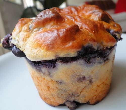 Blue berrie muffin made with pea protein powder