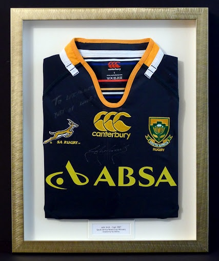 Springbok Rugby Shirt signed by John Smit