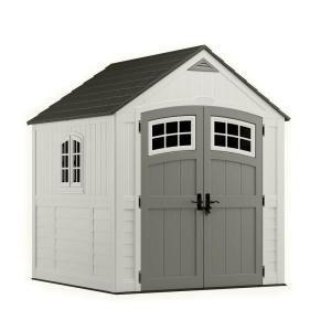 SUNCAST - #BMS7790D Cascade 7 ft. x 7 ft. Resin Storage Shed = $700 @ http://www.homedepot.com/p/Suncast-Cascade-7-ft-x-7-ft-Resin-Storage-Shed-BMS7790D/203602589?N=bu8z#.UjirIVrn_RY