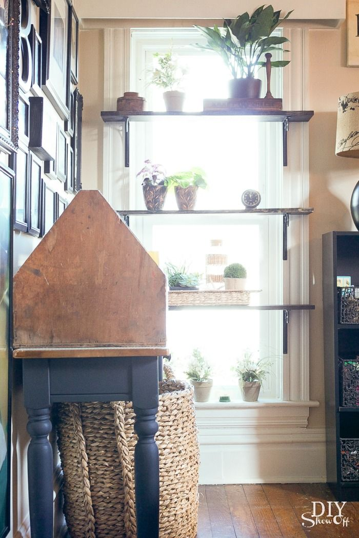 I am in love with these window shelves at diyshowoff.com