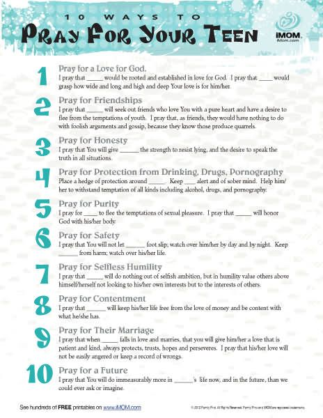 10 Ways to Pray for Your Teen | iMom