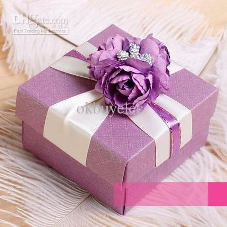 Wholesale Purple Plaid Wedding Favor Box Themed Wedding Favors Candy Sweet Favor Boxes DIY Bonbonniere Holders, Free shipping, $0.92-1.01/Piece | DHgate