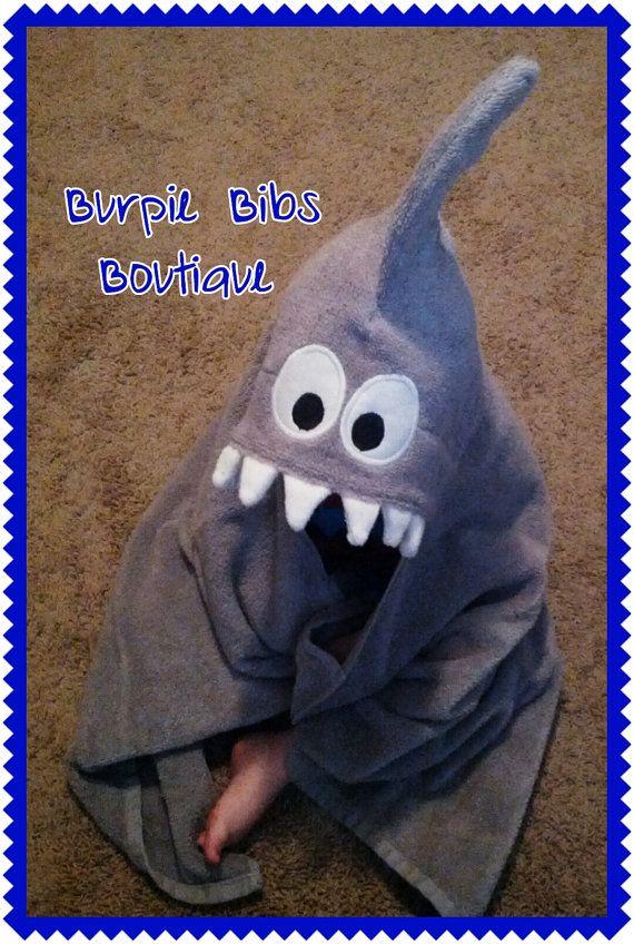 Shark Hooded Towel Bath Pool Child Kid Toddler Baby