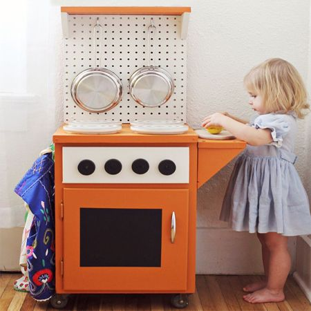 When I was little, I had a play kitchen kinda like this one. Maybe that's what got me started!