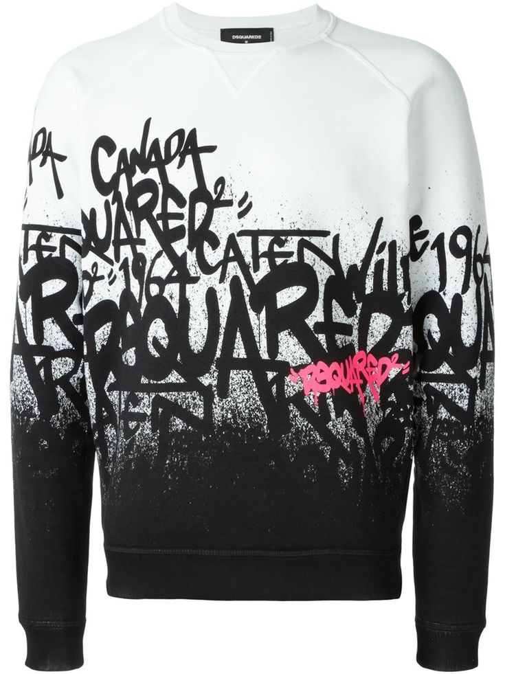Dsquared2 graffiti logo sweater