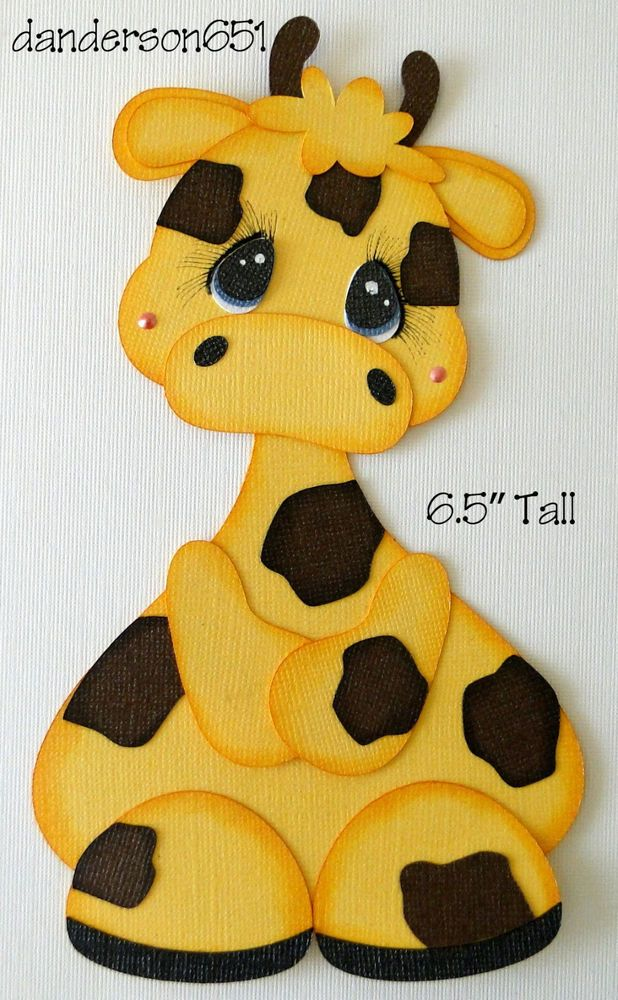 TT Giraffe Zoo Animal Paper Piecing PreMade Border Scrapbook Album danderson651