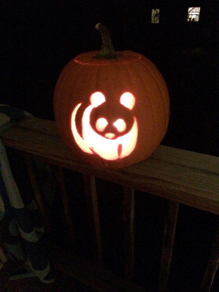 Pumpkin carving wwf pandas artsy stuff pinterest