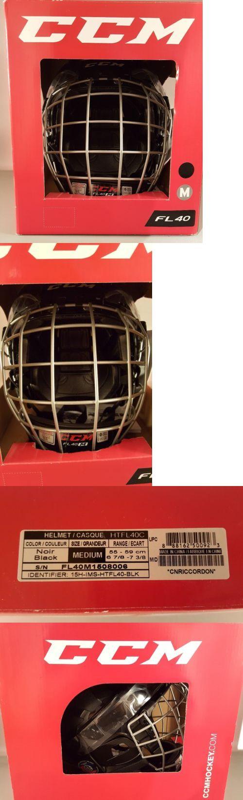 Helmets 20854: Ccm Fitlite Fl40 Adjustable Ice Hockey Helmet And Mask Combo M Medium -> BUY IT NOW ONLY: $34.99 on eBay!