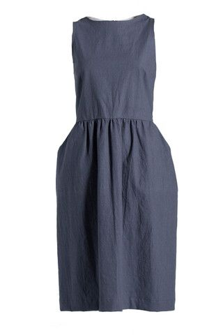 Semi-fit and Flare Dress - Solid Colour