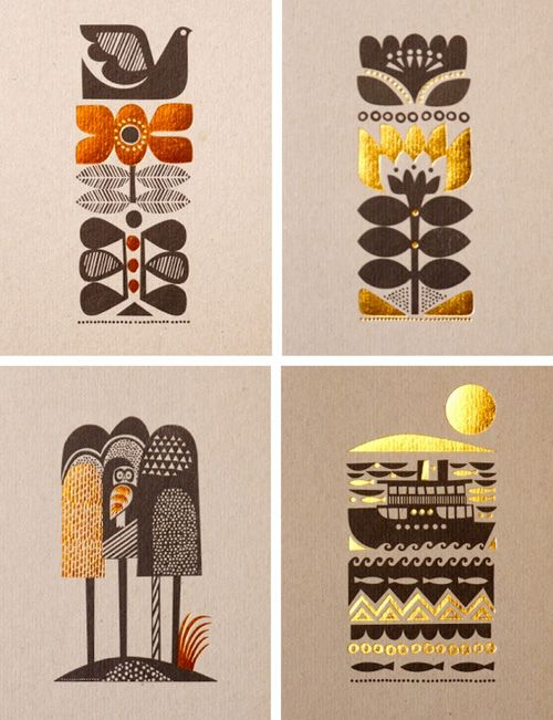Folklore-inspired art by Sanna Annukka.  I like the colorscheme and the simplicity.
