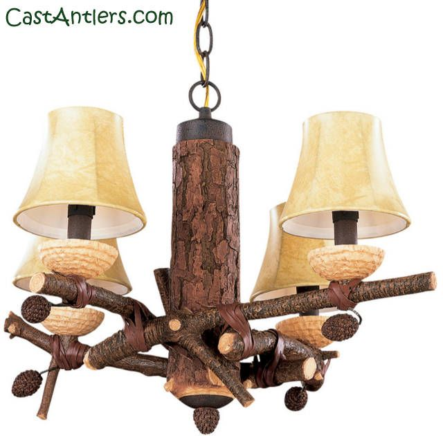 Rustic Ceiling Fans Lighting From Castantlers House Decorations