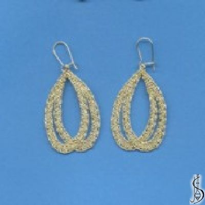Earring No. 10172  		   Gold. Price: € 17 Other color variations are in the catalog.  ............................  Protected by copyright!
