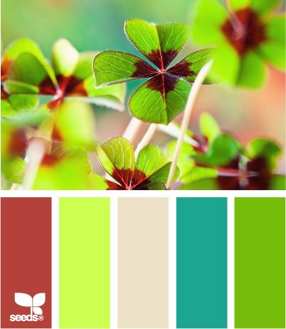 four leaf brights: Colors Pallets, Colors Combos, Leaf Bright, Design Seeds, Bathroom Colors Ideas Green, Colors Palettes, Colors Schemes, Rustic Wedding, Colors Inspiration