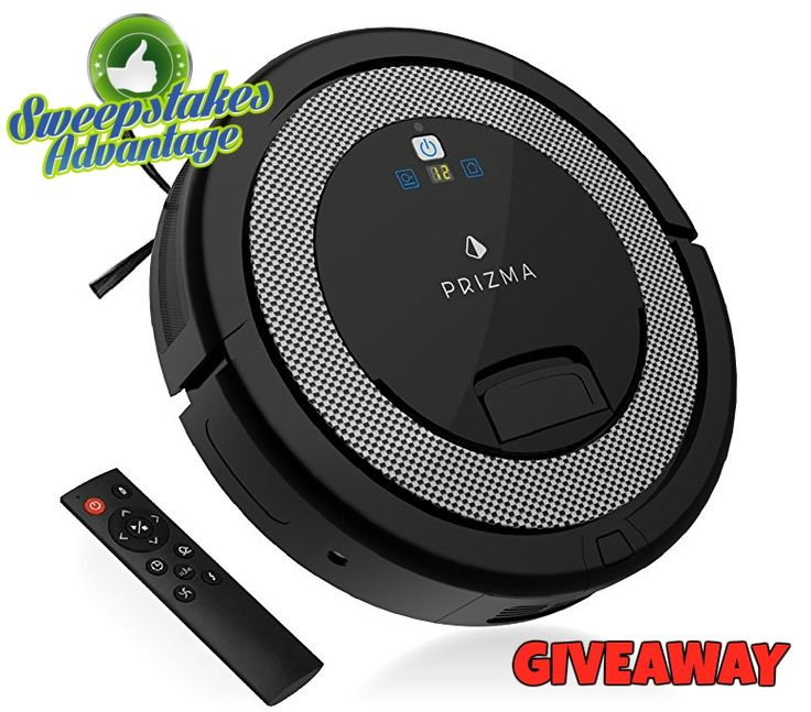 Win a Prizma Q6++ Robotic Household Vacuum Cleaner from Sweepstakes Advantage! More #sweepstakes @SweepsAdvantage.