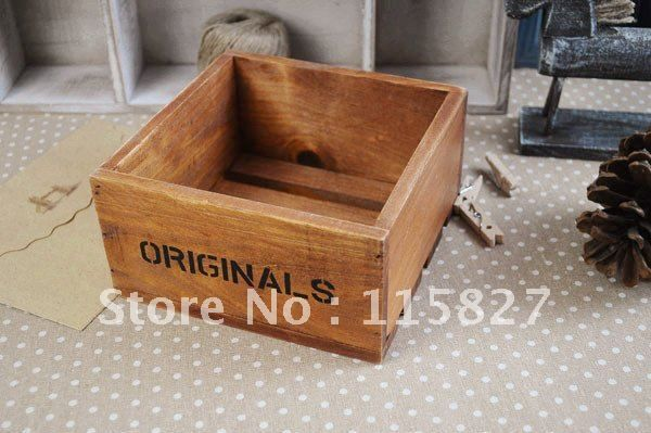 Min order$20(mixed items) Wooden storage box wooden organization square shape wooden case $3.30
